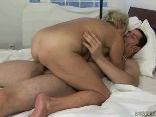 Vovó e gajo enjoying difícil sexo