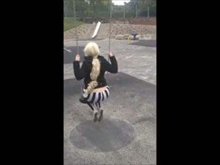 18 anno vecchio leggings pubblico park giocare grande culo tette lei camme a 18cams,org