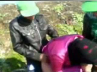 Hot Egyptian girl Fucked By Tow Man's in Farm
