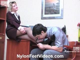 Christie et adam kewl collants pieds actionion