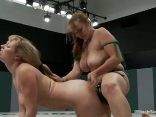 Adrianna Nicole And Bella Rossi Play Sex Game Xxx Game Together Together With A Strapon Instead Of Wrestling