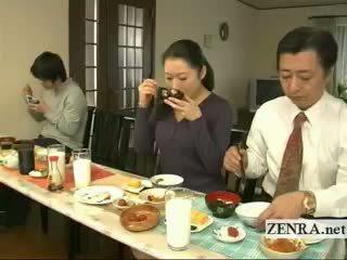 Subtitled 奇异的 日本语 bottomless 无 短裤 家庭