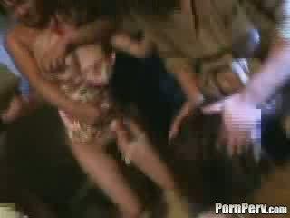 Two 女の子 brutally gangbanged ビデオ