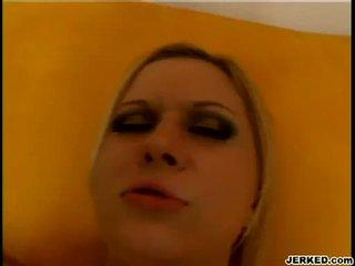 Blond aaralyn barra receives tema tihke hole pounded raske
