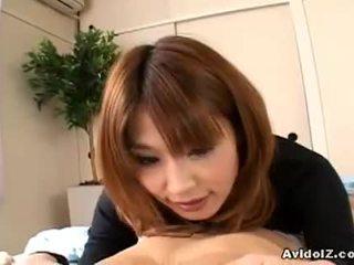 si rambut cokelat besar, seksi nice ass, japanese