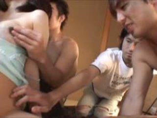 Pregnant Japanese Babe Gangbanged