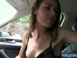 Publicagent Backseat Creampie for a Wet Pussy
