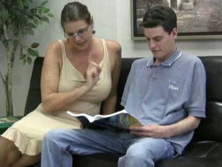 payudara besar, dewasa, moms and boys