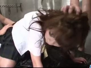 Amazing Meina endures rough pounding down her cunt