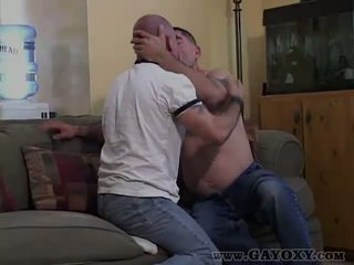 Bareback Gay Giving Horny Blowjob