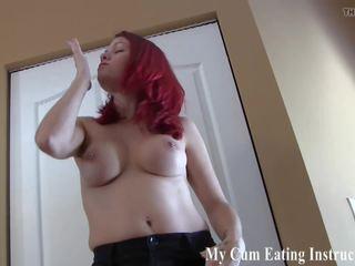 手淫, pov, my cum eating instructions