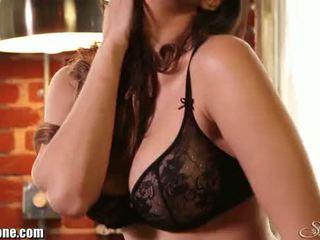 Sunny Leone's black lingerie