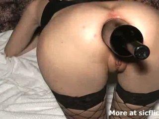 Ekstreme anale me grusht dhe shishe fucked lavire