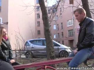 Blondynka rosyjskie eugenia nailed ciężko