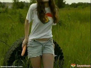 Pack 的 色情: 粉红色 nipple 青少年 fucks 她的 玩具