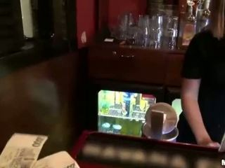 Sexy barmaid Rihanna Samuel sex for cash