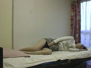 Asian Slut Masturbating In Bed