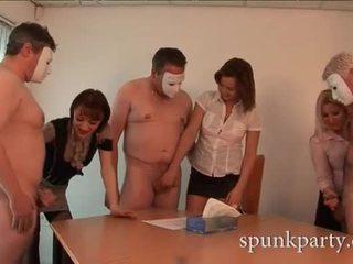 團體性交, handjobs, 組