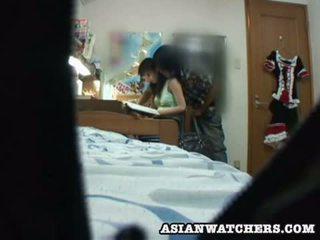 Spycam mladý školačka soukromý lesson 2