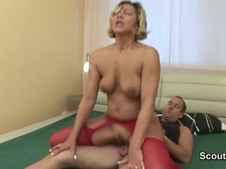 Eje wake up when oglan touch her and get fucked hard
