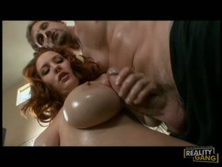 Hot Red Haired ReBecca Lane Screws Her Mouth With A Massive Erect Cock