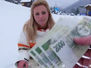 Busty Czech girl Nathaly paid for sex