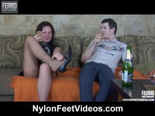 Sibylla And Vitas Breathtaking Pantyhose Feet Action