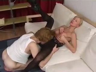 Mom wakes up young lover