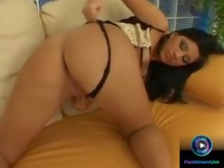Stunning Babe Krisztina Banx Drilling Her Cunt With Dildo