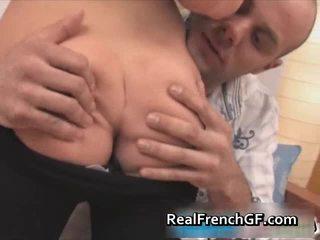 Fantastic French Teen Gf Coarse Fucked