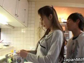 japonais, beauté, mère