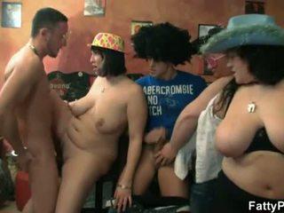 big, tits, group fuck
