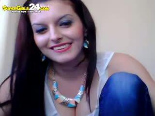 brunette, webcam, amateur
