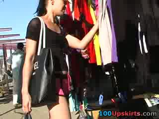Amateur with Pretty upskirt is spied by me