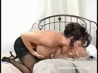 Dark Haired Momma Deauxma Fits A Thick Cock In Her Mouth Until She Chokes