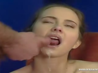 brunette, deepthroat, double penetration