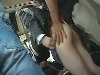 Scolarita has pentru da o muie în o autobus