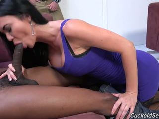 Super Hot Busty Mom and Wife Fucked by Black in Front of