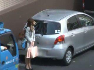 Karen fujiki कामुक एशियन ऑफीस महिला, किसे loves xxx