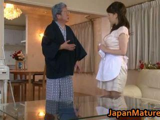 Dojrzała japońskie kobieta pieprzyć kanał