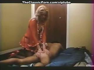 vintage, massage, blonde