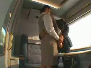 Japonesa comboio servis caralho vídeo