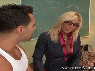Extremely hot teacher makes student wild.