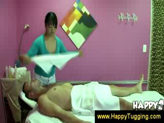 Asian masseuse teases a guy