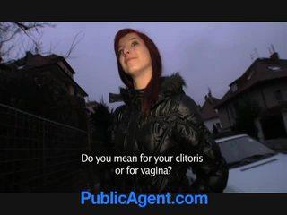 Τσέχικο κοκκινομάλλα/ης goes σπίτι με ο δημόσιο agent