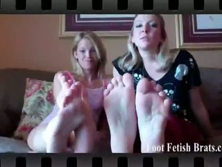Foot Fetish Brats: Claire heart and dre licking their feet.