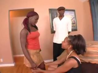 threesomes, black and ebony, anal
