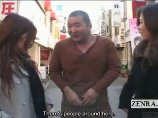 Subtitled public japonez extrem travestism femdom
