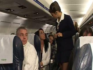 Difficile sesso con molto caldi stewardesses