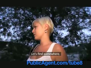PublicAgent Cock sucking short girl wi...
